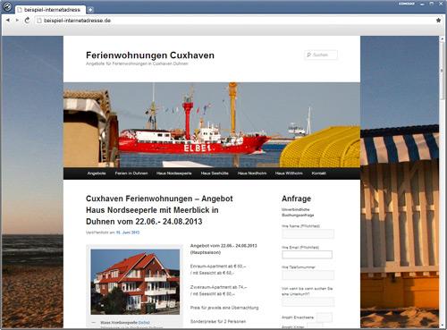 Jan Eckhardt Webdesign - Privater Vermieter von Ferienwohnungen in Cuxhaven