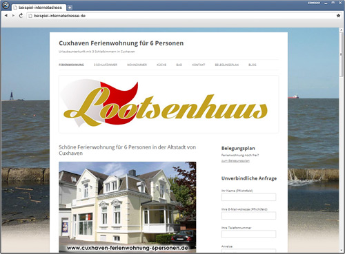 Website Cuxhaven - CMS- SEO - PHP - HTML - WordPress