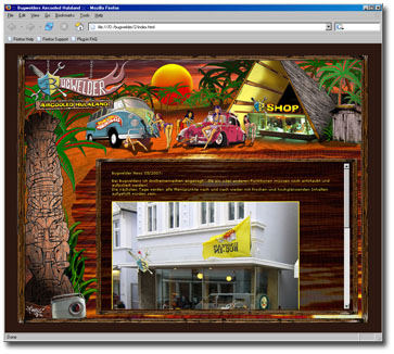 Webdesign Programmierung für Autozubehör Tiki Hula