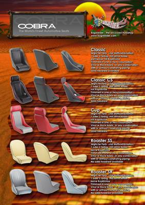 Verkaufskatalog für Autositze