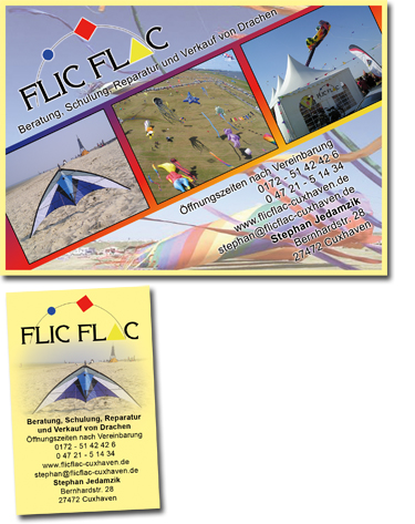 Grafikdesign Cuxhaven - Flyer - Visitenkarte