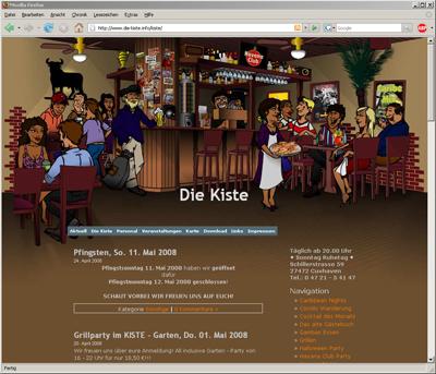 Webdesign mit animiertem Header