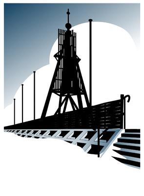 Illustration Kugelbake Cuxhaven
