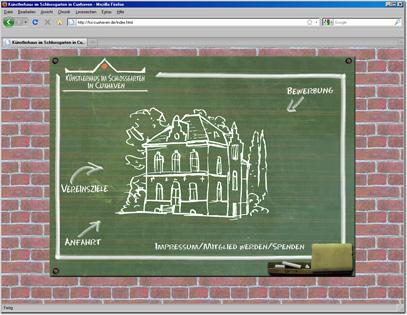 Webdesign für Künstlerhaus