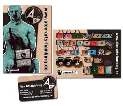 Logodesign - Flyer für Taschenmanufaktur