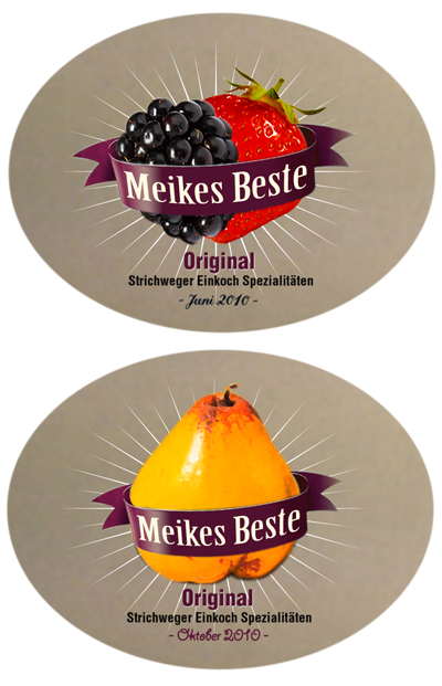 Marmeladen Etiketten