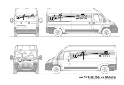 Logodesign - Fahrzeugfolierung