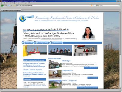 Website - Portal für Vermieter von Ferienwohnungen