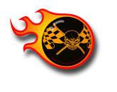 Logodesign Eightball Flammen