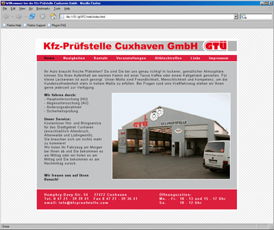 Webdesign Programmierung HTML Cuxhaven