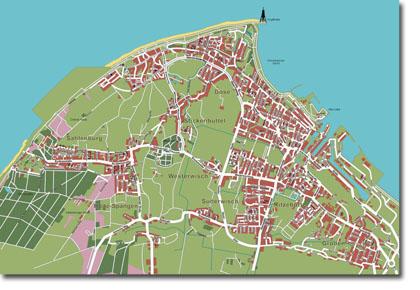 Stadtplan Vektorgrafik Cuxhaven